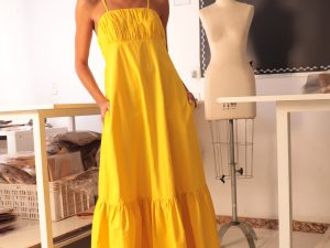 Vestido Amarelo Longo Victor Dzenk