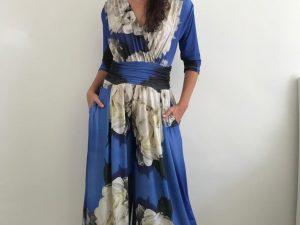 Macacão Jersey Sereia Hortênsia Azul