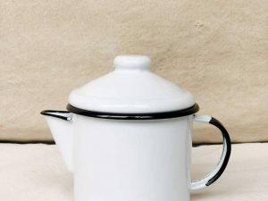Bule de Chá Ágata Branco