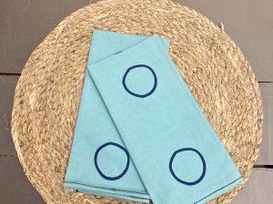 Guardanapo Círculo Azul Claro