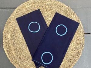 Guardanapo Marinho Círculo Azul Claro