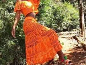 Conjunto de Crochet Algodão Liana Leão Design