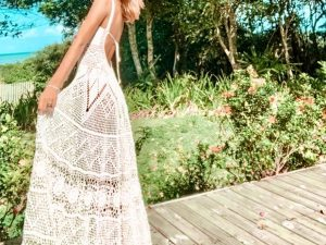 Vestido de Crochet Algodão Liana Leão Design 004