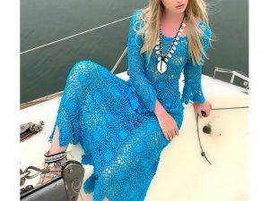 Vestido de Crochet Algodão Liana Leão Design 096
