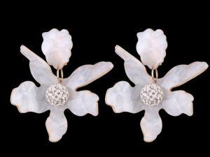 Brinco Acrilico Orquídea Grande
