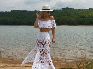 Conjunto de Crochet Algodão Liana Leão Design 039