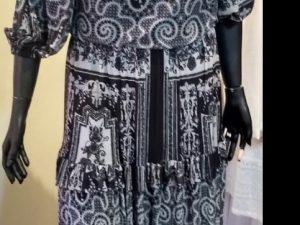 Vestido Ombro a Ombro Mix Floral P&B