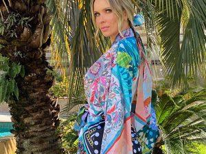 Kimono Curto Estampa Caminhos