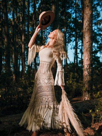 Vestido de Crochet Algodão Liana Leão VE117