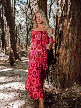 Vestido de Crochet Algodão Liana Leão VE124