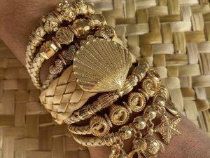 Bracelete Múltiplo Concha