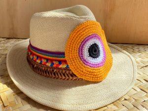 Chapéu de Palha com Olho Grego