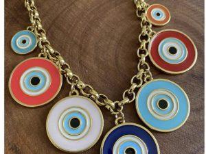 Colar Olhos Gregos Coloridos
