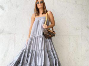 Vestido Athena Chiffon de Seda