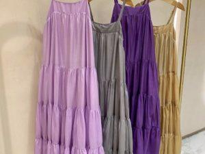 Vestido Athena Chiffon de Seda em Lavanda