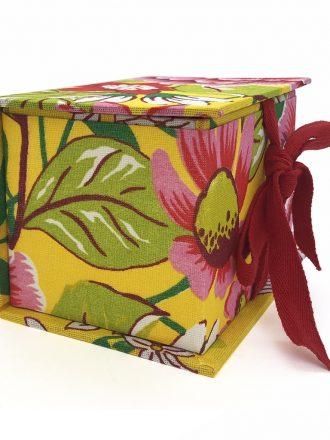 Caixa Pequena - Chita - Amarela