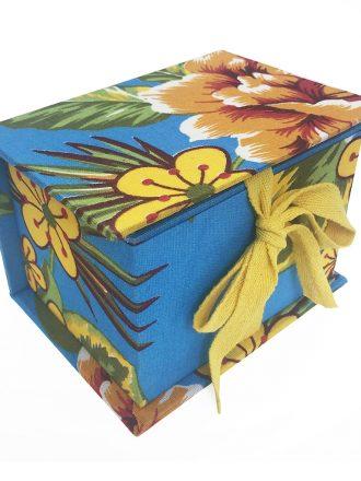 Caixa Pequena - Chita - Azul Turquesa