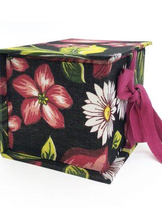 Caixa Pequena - Chita - Preta