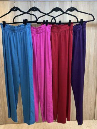 Calça Pantalona de Linho Sarah Azul
