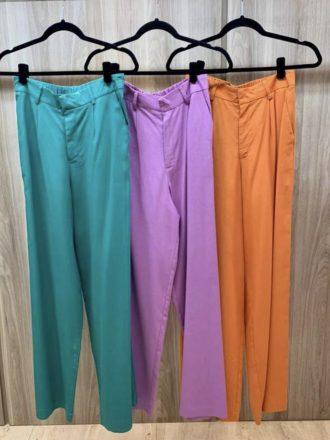 Calça Pantalona de Linho Larissa Laranja