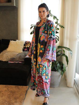 Kimono Veludo Retratos
